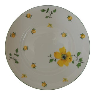 Royal Victoria English White and Yellow Bone China Dessert Plate For Sale
