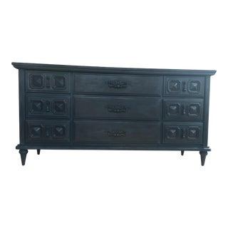 Nine Drawer Hand Painted Dresser/Console/Media Center