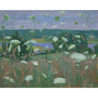 """Contemporary """"Queen Anne's Lace"""" Plein Air Painting by Stephen Remick For Sale"""