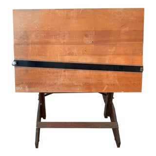 20th Century Rustic Drafting Table For Sale