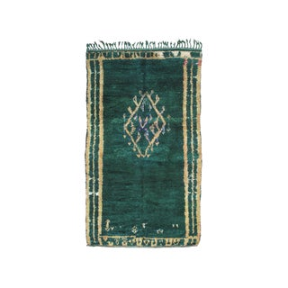 Green Beni Mguild Berber Rug - 5′3″ × 9′1″ For Sale