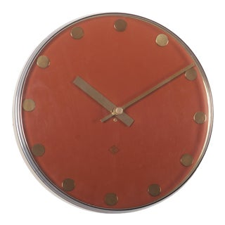 Elegant German Telenorma Electric Wall Clock For Sale