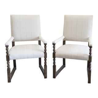 Baker Dining Arm Chairs - a Pair