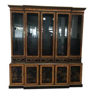 """20th Century Chinoiserie Drexel Heritage """"Et Cetera"""" China Cabinet For Sale"""