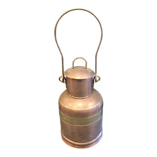Vintage Copper & Brass Milk Can