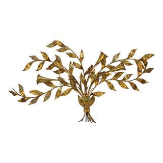 Italian Gilt Tole Floral Arrangement by Florentia For Sale