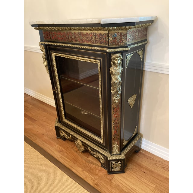 French Boulle Style Display Cabinet For Sale In Seattle - Image 6 of 11