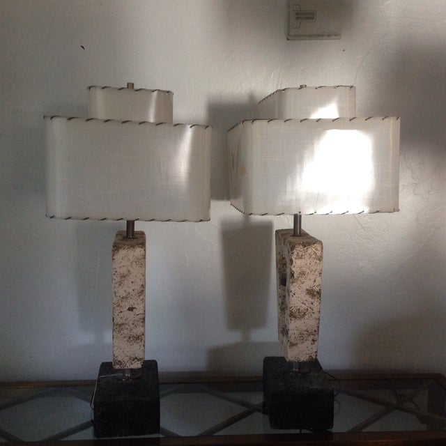 Deco Butterfly Cork Lamps - A Pair - Image 3 of 10