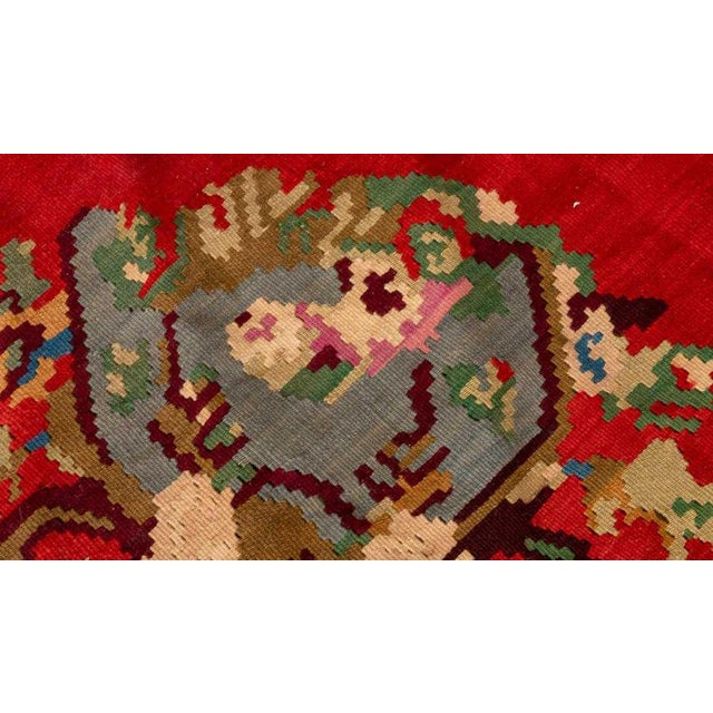 Cottage Late 20th Century Vintage Flat Woven Kilim Rug- 8′ × 10′6″ For Sale - Image 3 of 4