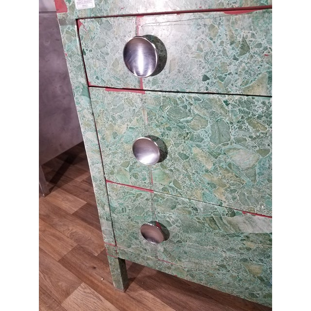 Simmons 3-Drawer Steel Green Granite Chest Of Drawers For Sale - Image 9 of 11