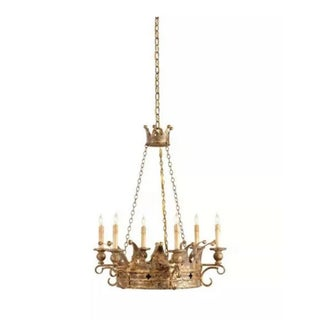 Currey and Company Gold Chandelier 9547 For Sale
