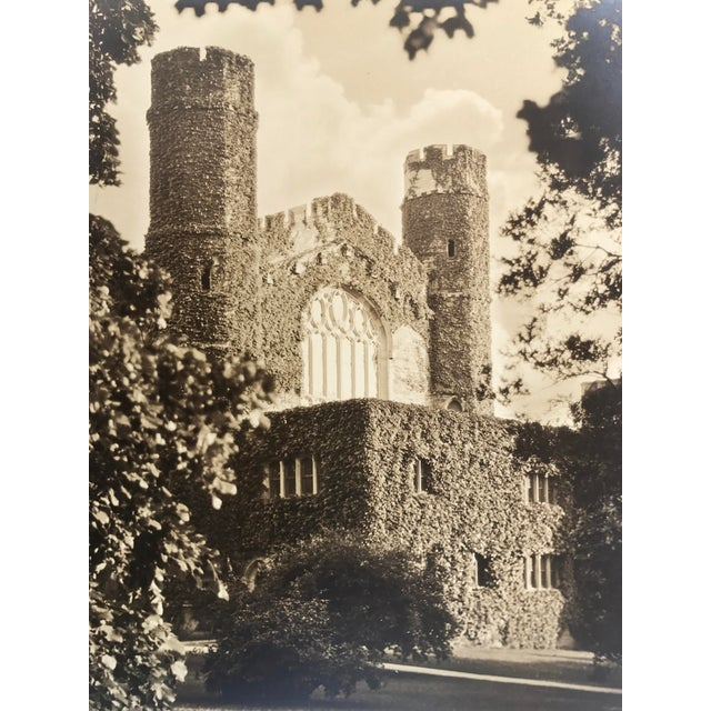 English Traditional Silverprint Photograph of Gothic English Building w/Ivy 1929 For Sale - Image 3 of 5