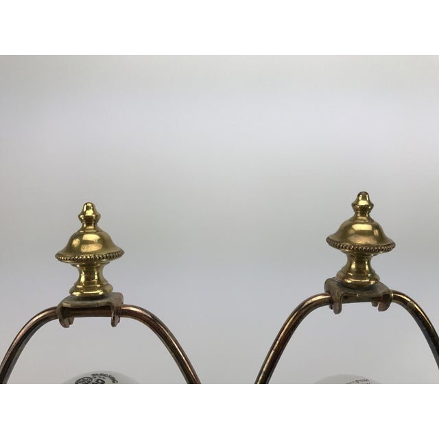 Frederick Cooper Brass & Lucite Buffet Lamps - A Pair - Image 8 of 10