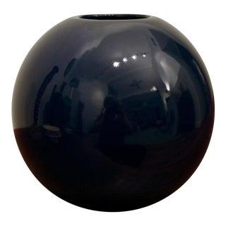 Navy Blue Spherical Postmodern Vase