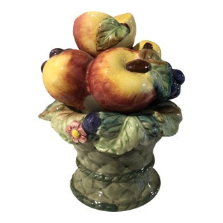 1980s Country Villa Roy and Boch Vintage Lidded Fruit Topiary For Sale