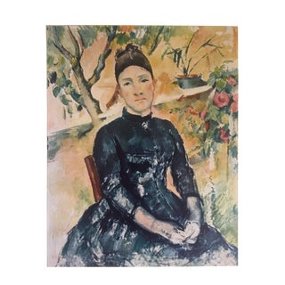 """Paul Cezanne Rare 1952 Authentic Lithograph Print """" Madame Cezanne in the Conservatory """" 1890"""