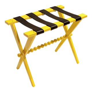 Contemporary Abbotsford Yellow Lacquer Luggage Rack For Sale