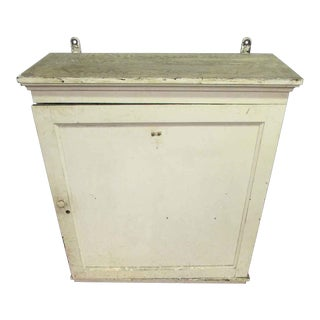 Antique White Wooden Key Hanging Cabinet Box