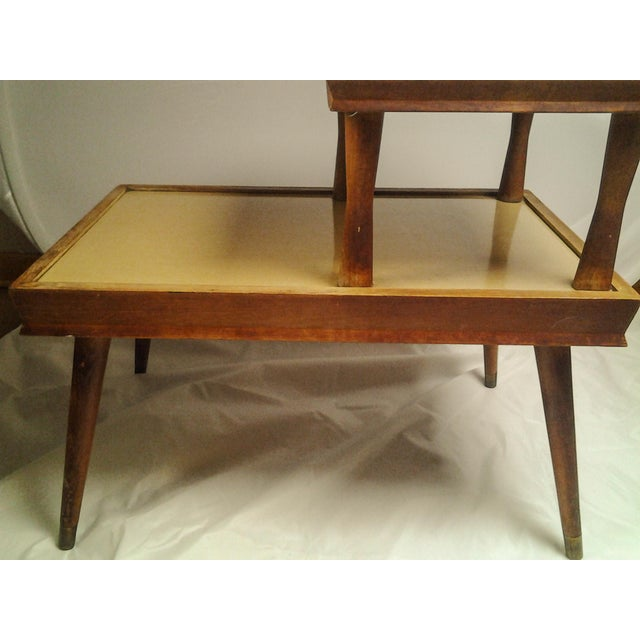 Vintage Mid-Century 2 Tier Side Table For Sale - Image 4 of 6