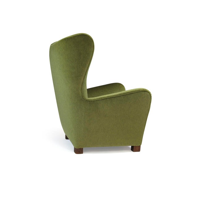 1942 Thorald Madsen for Fritz Hansen High Back Lounge Chair For Sale - Image 11 of 11