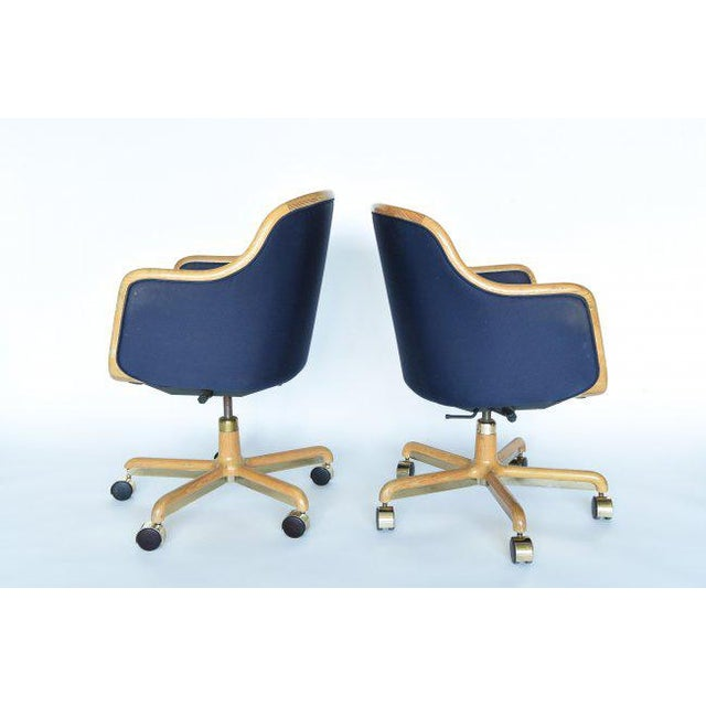 These two desk chairs by Ward Bennett would look amazing in a Mid-Century Modern, Scandanavian Modern or Danish Modern...