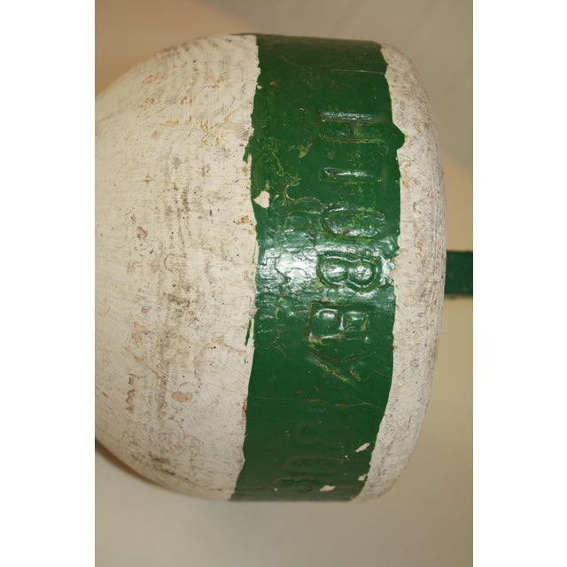 Rustic Wooden Nautical Buoy For Sale - Image 5 of 6