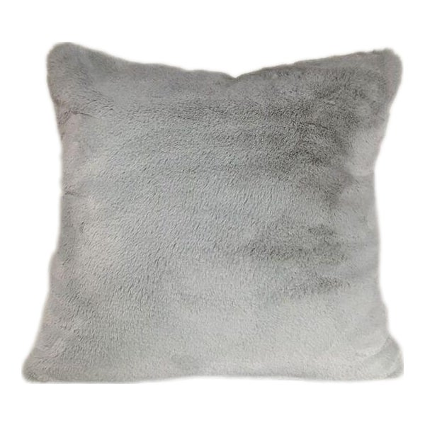 Kim Salmela Gray Faux Fur Pillow For Sale