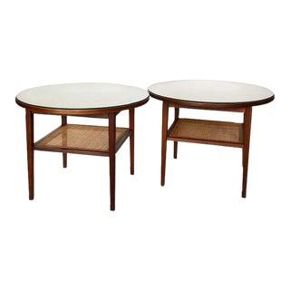 Kipp Stewart & Stewart McDougall Walnut Tables - a Pair For Sale