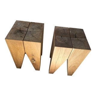 Philipp Mainzer for E15 Stools- a Pair For Sale