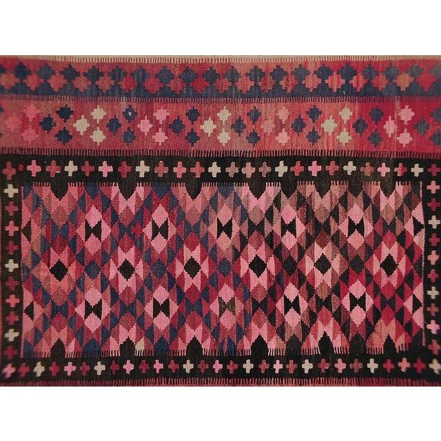 """Vintage Afghan Kilim - 4'9"""" x 6'6"""" - Image 2 of 3"""
