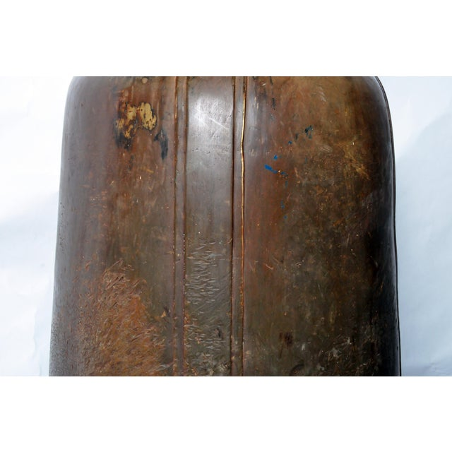 Gold Bronze Thai Temple Bell with Engraving For Sale - Image 8 of 10