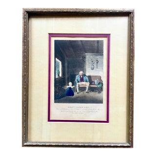 """Grandpapa's Pet"" Original Lithograph 1843 For Sale"