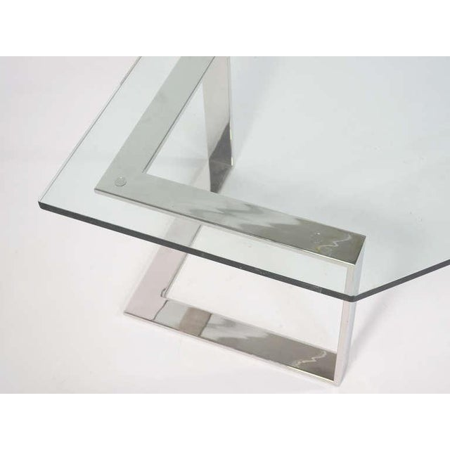Chrome And Glass Coffee Table By Directional - Image 10 of 10