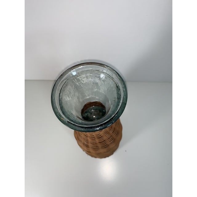1970s 1970s Wicker Wrapped Decanter For Sale - Image 5 of 9