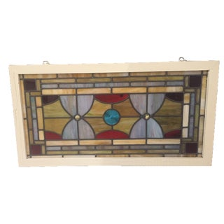 Vintage Stained Glass Circa 1940's For Sale