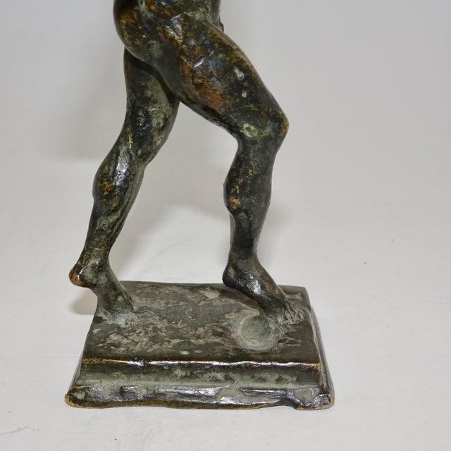 19th Century Vintage Black Bronze Biblical Man Figurine