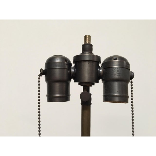 Circa 1860 Antique Iron Star Table Lamps - A Pair For Sale In Los Angeles - Image 6 of 8