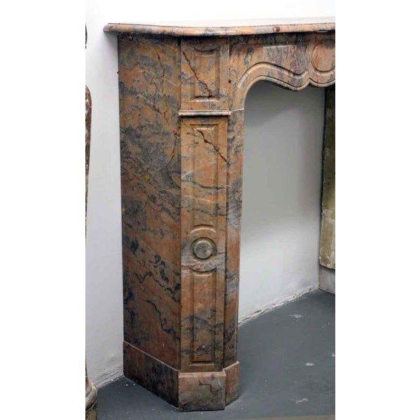 French Pompadour Marble Mantel For Sale - Image 6 of 7