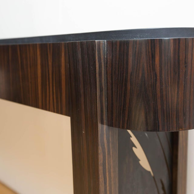 Macassar Ebony and Patinated Steel Console Table by Gregory Clark For Sale - Image 5 of 8
