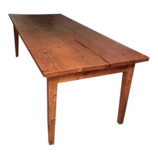 Antique Pine Farm French Table For Sale