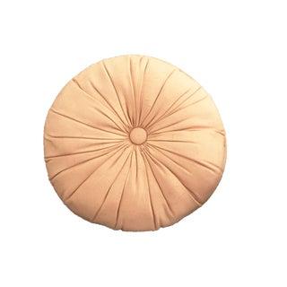 Vintage Tufted Round Blush Pink Pillow