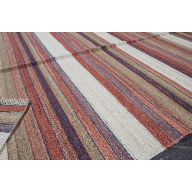 "Textile Apadana - Modern Kilim Rug, 5'8"" x 8'1"" For Sale - Image 7 of 7"