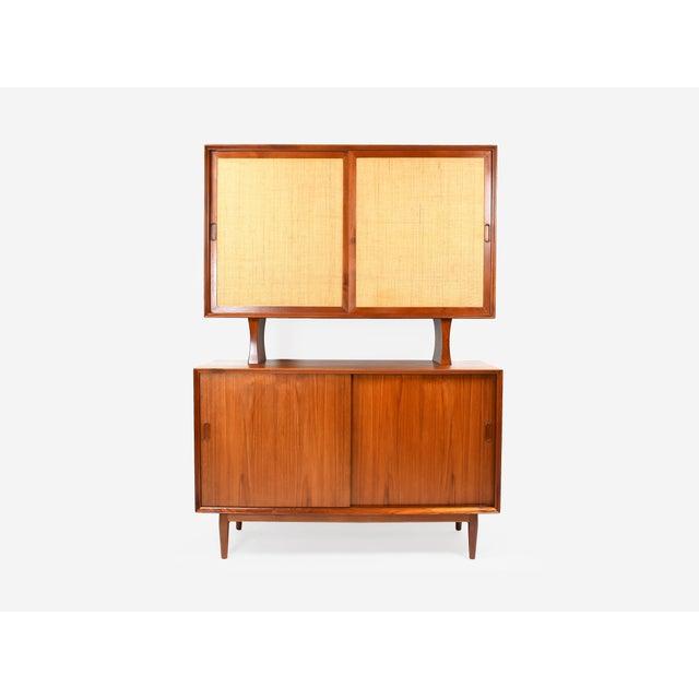 1950s Danish Modern Arne Vodder for Sibast Teak Sideboard Hutch For Sale - Image 13 of 13