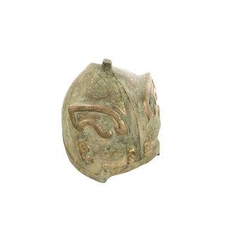 Chinese Antique Bronze Warrior Helmet For Sale