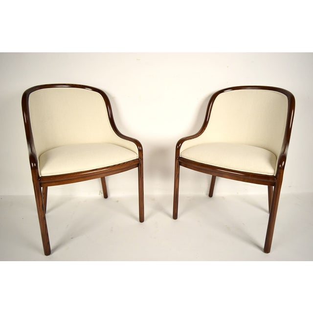 Ward Bennett Hall Chairs - Pair - Image 3 of 7