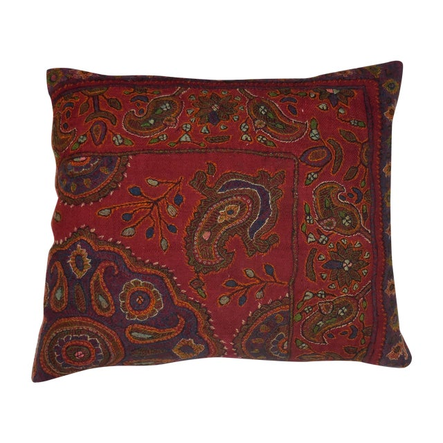Hand Embroidery Antique Pillows - A Pair - Image 1 of 10