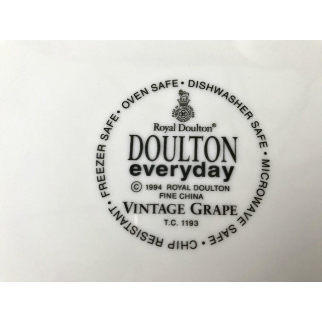 Royal Doulton Vintage Grape Pattern China Service- 25 Pieces For Sale In Montgomery - Image 6 of 6