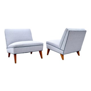 Art Deco Slipper Lounge Chairs by Gilbert Rohde For Sale