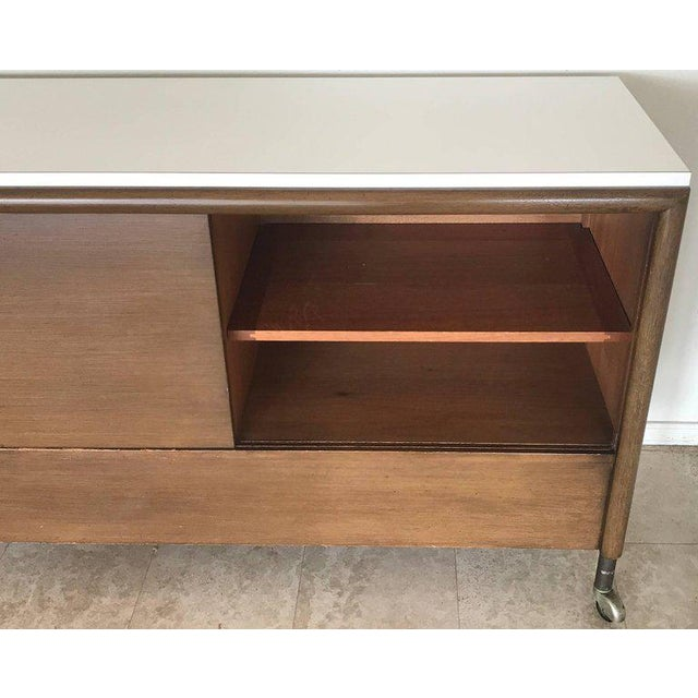 1950s Unique John Keal Server with Six Folding Tables - Set of 7 For Sale In Las Vegas - Image 6 of 11