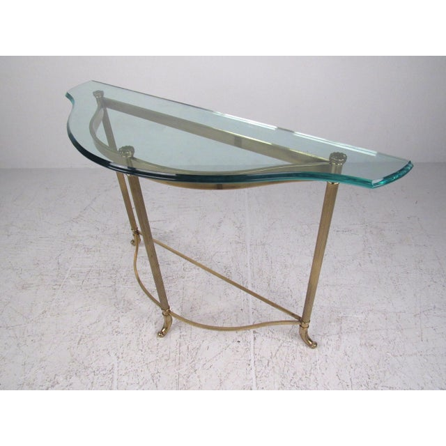 Mid-Century Style Demi-Lune Hall Table For Sale - Image 11 of 11